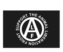 Fahne Support the Animal Liberation Front
