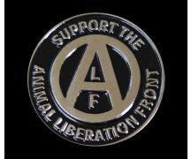Emaille-Pin Support the Animal Liberation Front
