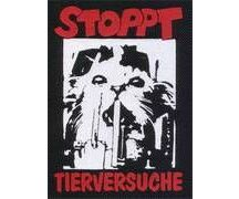 Aufnäher Stoppt Tierversuche