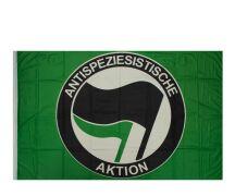 "Fahne ""Antispeziesistische Aktion"" grün"