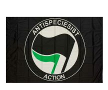 "Fahne ""Antispeciesist Action"""