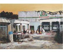 """Hartmut Kiewert Soli-Postkarte """"Ruine II"""""""