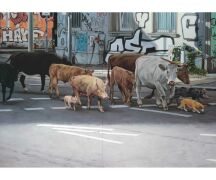 "Hartmut Kiewert Soli-Postkarte ""Crossing"""