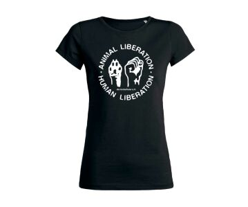 "T-Shirt  ""Animal Liberation - Human Liberation""  Bio