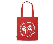 "Einkaufsbeutel "" Animal Liberation - Human..."