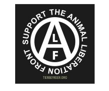 Aufkleber Support the Animal Liberation Front