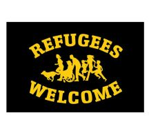 Fahne Refugees Welcome