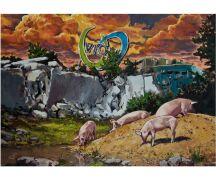 "Hartmut Kiewert Soli-Postkarte ""Ruine IX"""