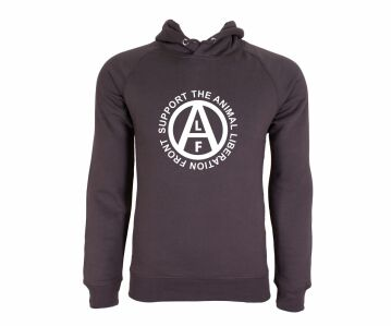 "Hoodie grau ""Support the Animal Liberation Front"" Bio