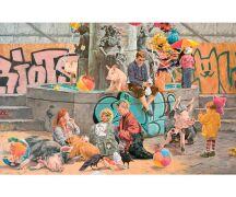 "Hartmut Kiewert Soli-Postkarte ""Brunnen"""