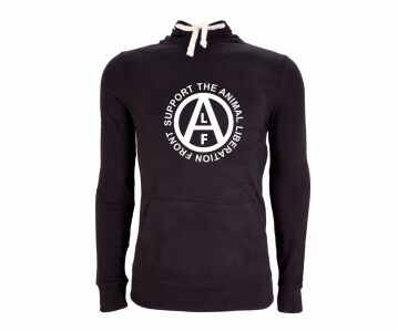 """Hoodie Black """"Support the Animal Liberation Front"""" Bio
